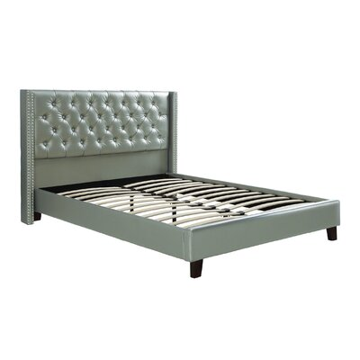Krueger Upholstered Platform Bed Size: Queen, Color: Silver