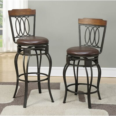 Turbeville 24 Swivel Bar Stool