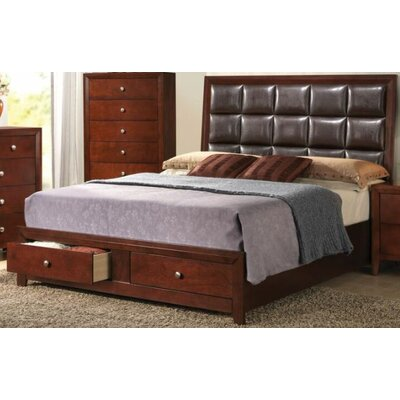 Vanlandingham Storage Upholstered Panel Bed Size: King