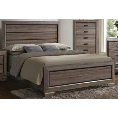 Dunloy Panel Bed Size: King
