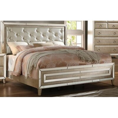Hester Upholstered Panel Bed Size: King