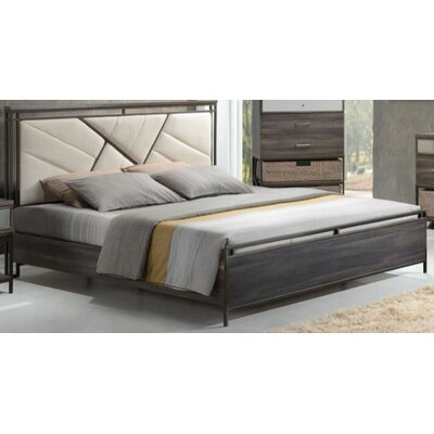 Francisca Upholstered Panel Bed Size: California King