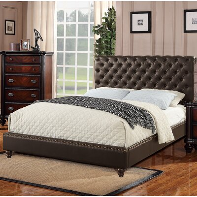 Romey Upholstered Sleigh Bed Size: California King