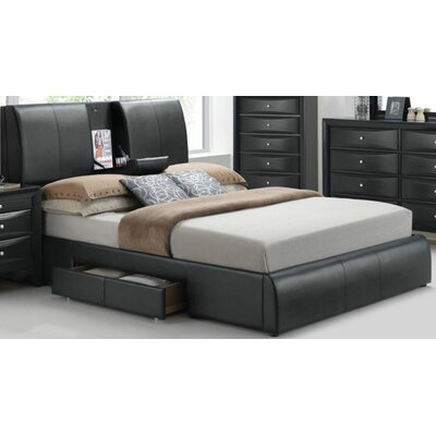 Horsley Platform Bed with Storage Size: King