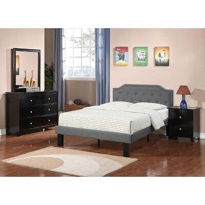 Damarus Platform Bed Size: Twin, Color: Blue Gray