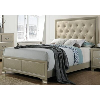 Porter Upholstered Panel Bed Size: King