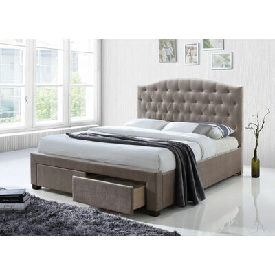 Crader Upholstered Platform Bed Size: King