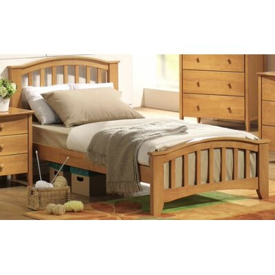 Bed Size: Twin, Color: Maple