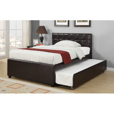 Dupuy Upholstered Platform Bed Size: Full, Color: Espresso