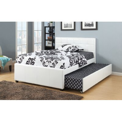 Dupuy Upholstered Platform Bed Size: Full, Color: White