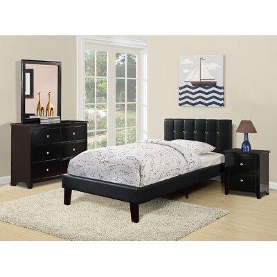 Duque Upholstered Platform Bed Size: Full, Color: Black
