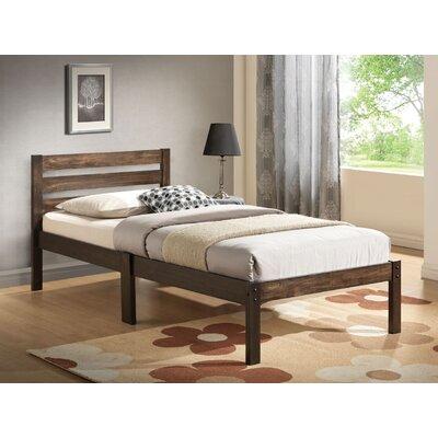Daubert Twin Platform Bed Bed Frame Color: Brown