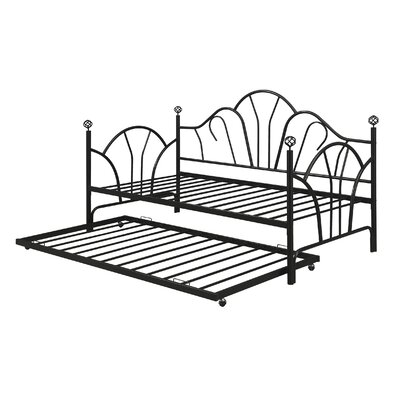 Tomlin Daybed with Trundle Color: Black