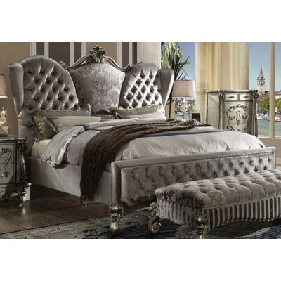 Doline Upholstered Panel Bed Size: King, Color: Gray