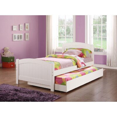 Dalley Twin Platform Bed with Trundle Bed Frame Color: White