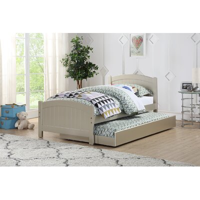 Dalley Twin Platform Bed with Trundle Bed Frame Color: Silver