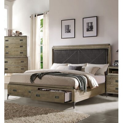 Bedford Upholstered Storage Platform Bed Size: King