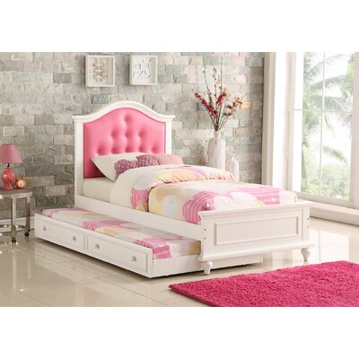 Dasilva Twin Platform Bed with Trundle Color: Pink