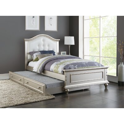Dasilva Twin Platform Bed with Trundle Color: White