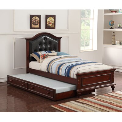 Dasilva Twin Platform Bed with Trundle Color: Black