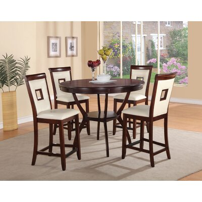 Pasillas 5 Piece Counter Height Dining Set Color: Cream
