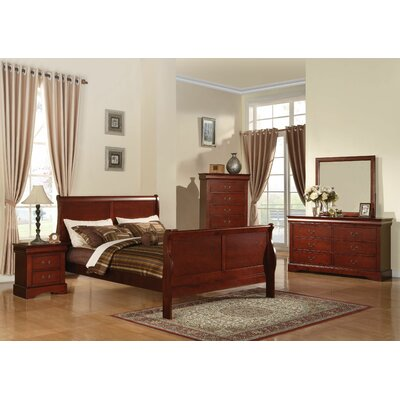 Trafford Sleigh Bed Size: Full, Color: Cherry