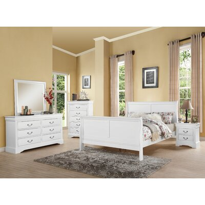 Trafford 2 Drawer Nightstand Color: White