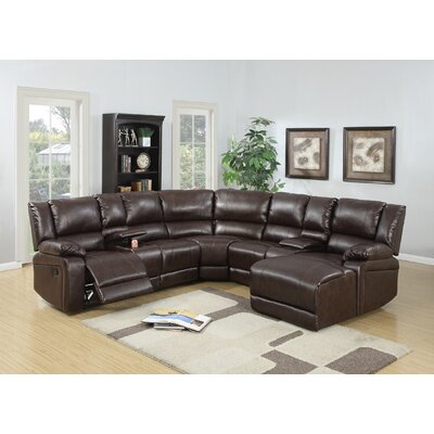 Lagarde Reclining Corner Sectional Upholstery: Brown