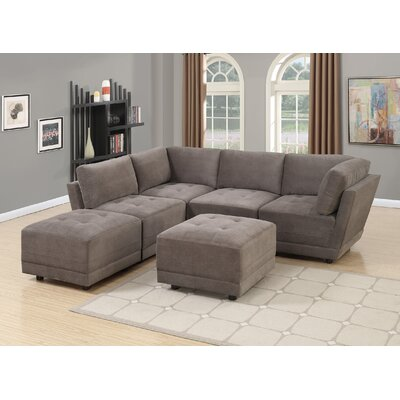 Kleiman 6 Piece Living Room Set Upholstery: Charcoal