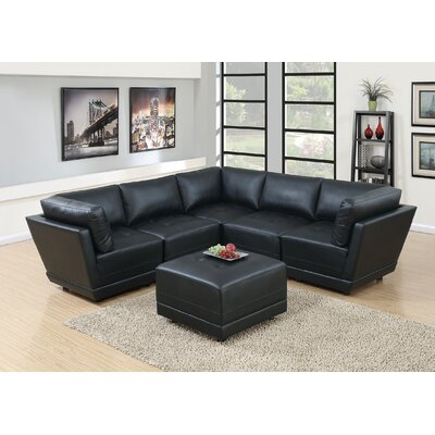 Kleiman Sectional Upholstery: Black