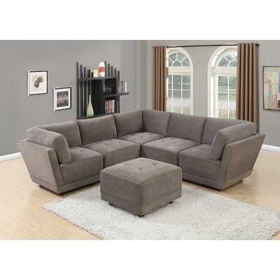 Kleiman Sectional Upholstery: Charcoal