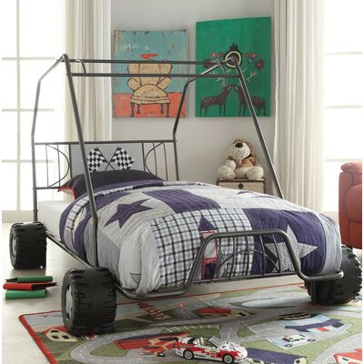 Henault Twin Car Bed Bed Frame Color: Gunmetal