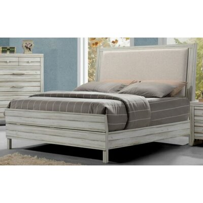 Claude Upholstered Panel Bed Size: European King