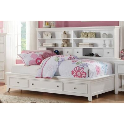 Duran Storage Bed Size: Full, Color: White