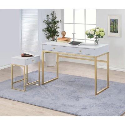 Melia End Table Color: White