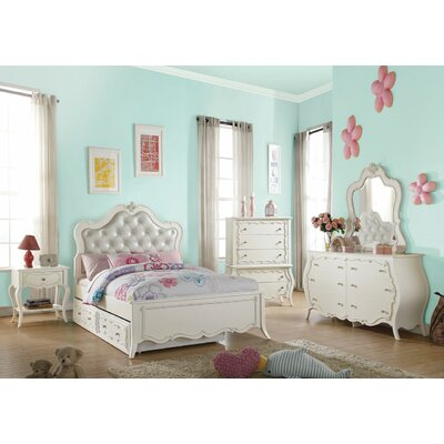 Eddins 1 Drawer Nightstand Color: Pearl White