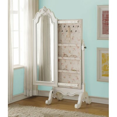Eddins Free Standing Jewelry Armoire with Mirror