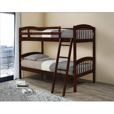 Edgemont Twin Over Twin Bunk Bed Bed Frame Color: Espresso