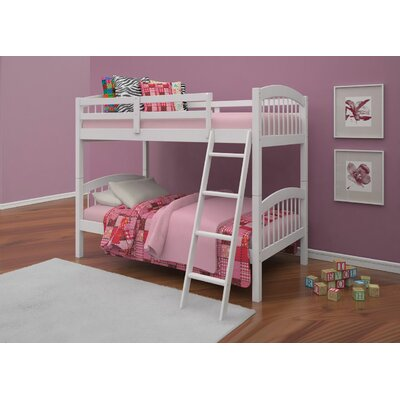 Edgemont Twin Over Twin Bunk Bed Bed Frame Color: White