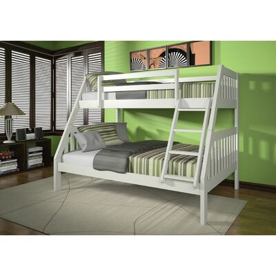 Edgeworth Twin Over Full Bunk Bed Bed Frame Color: White