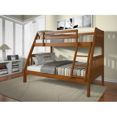 Edgeworth Twin Over Full Bunk Bed Bed Frame Color: Oak