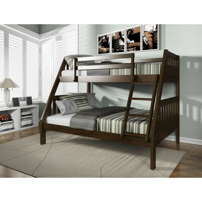 Edgeworth Twin Over Full Bunk Bed Bed Frame Color: Espresso