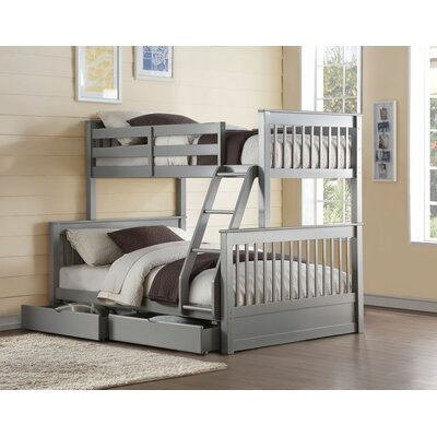 Edinger Twin Over Full Bunk Bed with Drawers