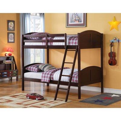Edingworth Twin Over Full Bunk Bed Bed Frame Color: Espresso