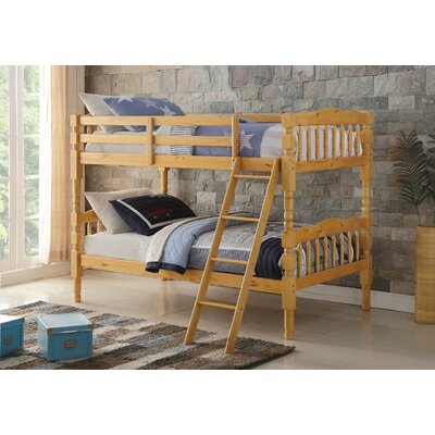 Edmiston Bunk Bed Bed Frame Color: Natural, Size: Twin