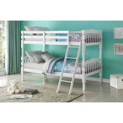Edmiston Bunk Bed Bed Frame Color: White, Size: Twin