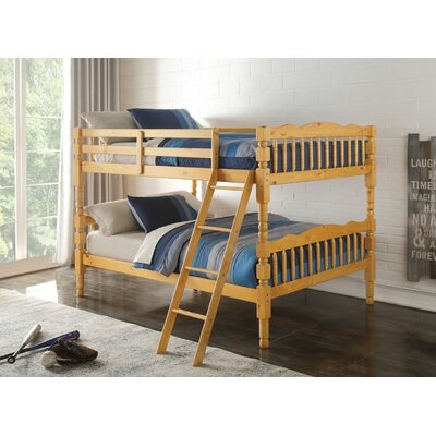 Edmiston Bunk Bed Bed Frame Color: Honey Oak, Size: Twin