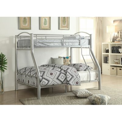 Eder Twin Over Full Bunk Bed Bed Frame Color: Silver