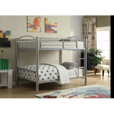Eder Bunk Bed Bed Frame Color: Silver, Size: Twin Over Twin