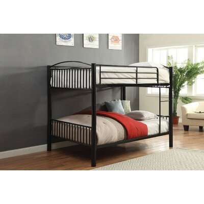 Eder Bunk Bed Bed Frame Color: Black, Size: Twin Over Twin